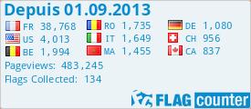 Visiteurs de Couleurs Bretagne depuis le 01.09.2013 avec flagcounter.com