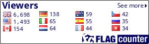 http://s03.flagcounter.com/count/vTp/bg=FFFFFF/txt=000066/border=000000/columns=4/maxflags=12/viewers=1/labels=0/